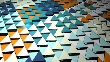 3d render abstract background. Triangle  form