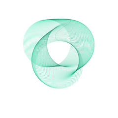 Green abstract circle. Abstract round background. The template of social network, postcard, referla, poster
