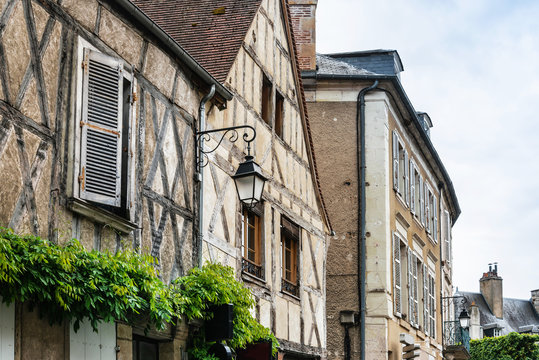 Street view of downtown in Bourges, France