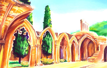 bellapais abbey northern Cyprus art