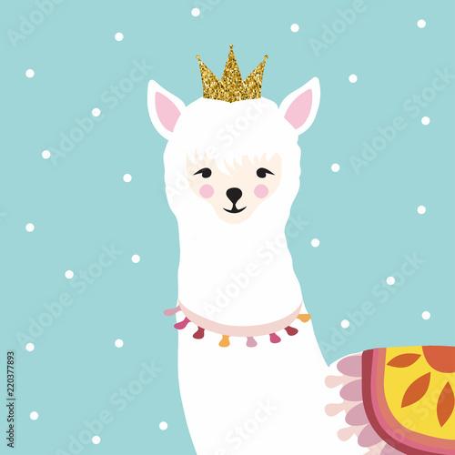 "Llama Wallpaper: ""Llama Or Alpaca Colorful Background Vector Illustration"