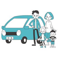 家族 親子 自家用車