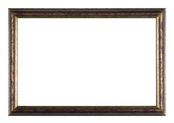 Bemalter Bilderrahmen aus Holz mit weißem Hintergrund