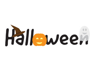 Halloween logo with vector elements