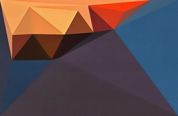 Multicolor polygonal abstract background. Triangular bright texture. Geometric modern painted on canvas. Stock. Graphic design pattern. Low poly wallpaper.