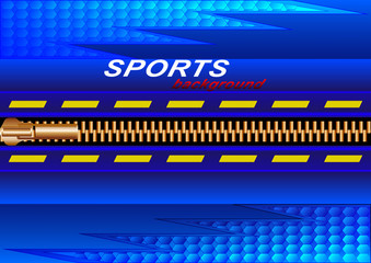 Sports abstract background, gold-plated clasp