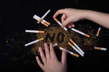 No Tobacco Day poster for say no smoking concept