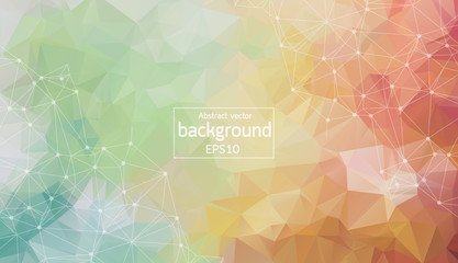 Geometric colorful Polygonal background molecule and communication. Connected lines with dots. Minimalism background. Concept of the science, chemistry, biology, medicine, technology.