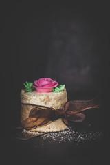 Geburtstagskuchen mit Rose