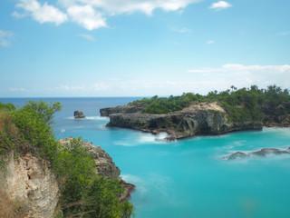 Blue lagoon at Nusa Ceningan, Indonesia