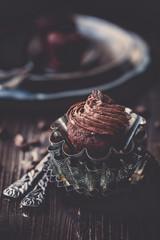 Schokomuffin mit Cremehaube
