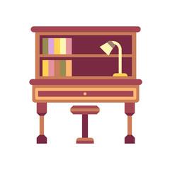 Writing Desk Flat Icon