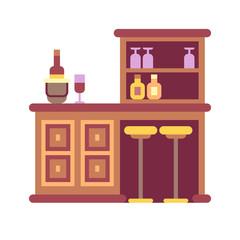 Home Bar Flat Icon