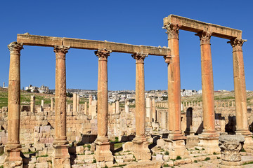 Roman Ruins of Jerash , Ancient Roman city of Gerasa of Antiquity , modern Jerash, Jordan