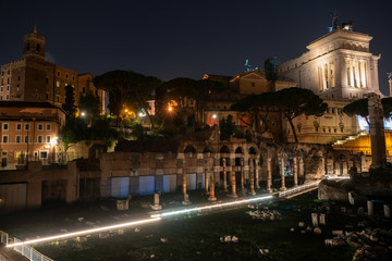Printed kitchen splashbacks Athens Rome, Italy showing ancient rome at day and night from colloseum to vatican