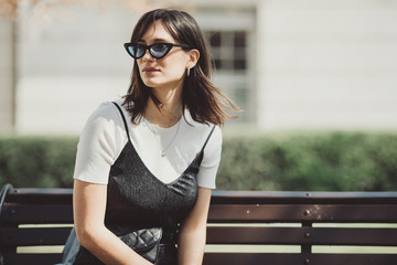 Cool woman in the city