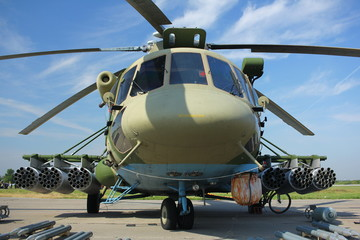 Attack helicopter Mi-8.