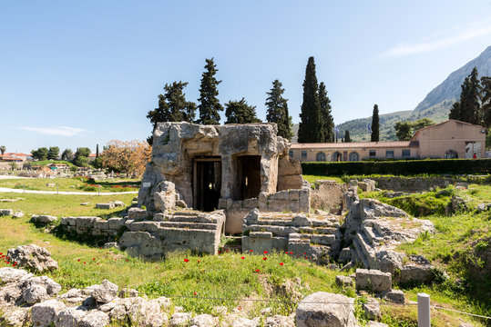 At Ancient Corinth in Greece