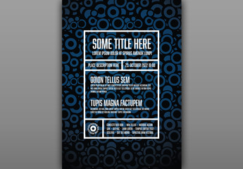 Flyer Layout with Circle Pattern Background