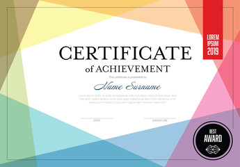 Certificate Layout with Overlapping Colors