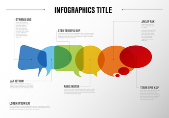Infographic Layout with Speech Bubbles
