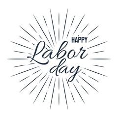 Happy Labor Day! vector illustration on white background