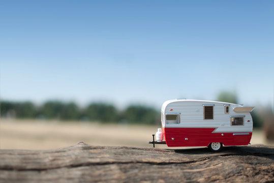 Summer camper van trip