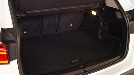 large capacious trunk of a modern car