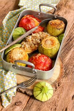 légumes du soleil farcis (viande et riz) 1