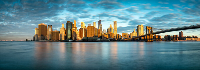 Manhattan Skyline in New York City, USA