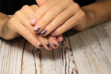beautiful light manicure