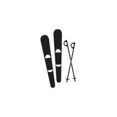 skis and a sticks icon