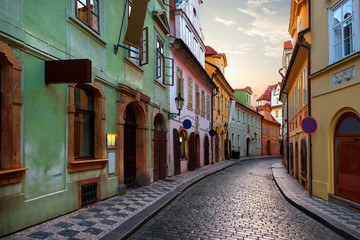 Narrow street in Prague Wall mural