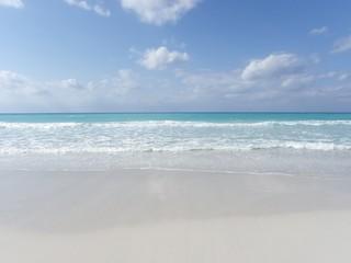 Paradise beach on a sunny day