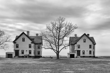 Army Houses Two BW