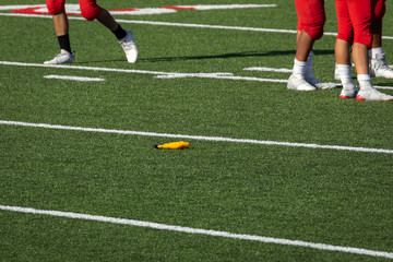 Football – Penalty Flag thrown on field
