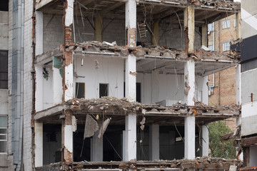 Planned demolition of old buildings