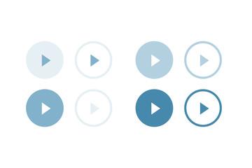 Playボタン。グラフィック素材
