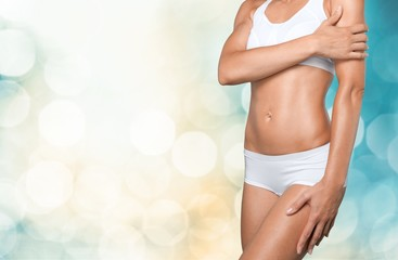 Close-up beautiful slim female body