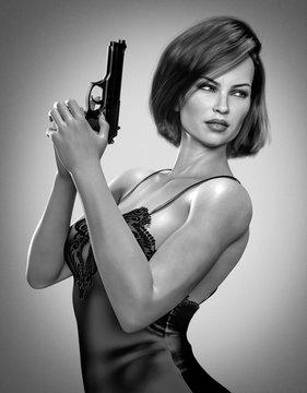 Beautiful Femme Fetale - Detective Film Noir