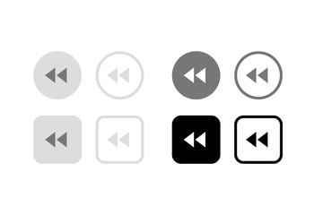 巻き戻し(リバース)ボタン。グラフィック素材、デザインパーツ