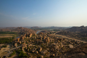 Hampi's boulder strewn landscape is one of the oldest exposed surfaces on earth.