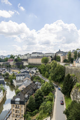 View of the River Alzette and Luxembourg