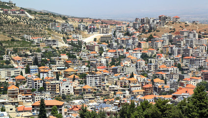 The town of Zahle in the Beqaa, Lebanon