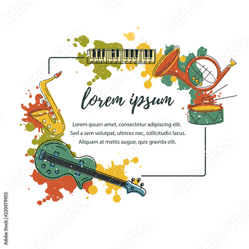 Template for music festival jazz party invitation greeting card template for music festival jazz party invitation greeting card concert poster stopboris Choice Image