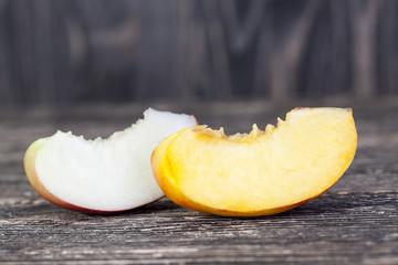 two varieties of peach