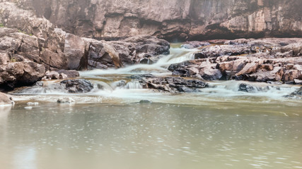 Water falls at Gooseberry National Park, Duluth, Minnesota