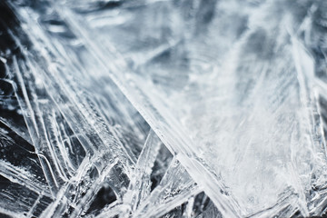 Detailed background texture of ice as a texture or background