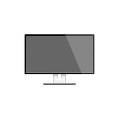 motior lcd display isolated on white background,  vector illustration.
