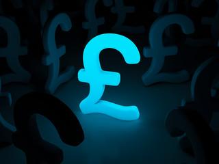 Light pound symbol background